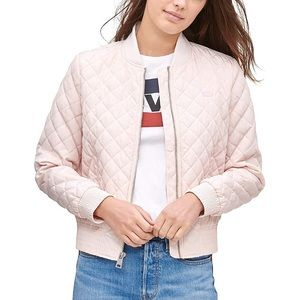 NWT Levi's Pink Diamond Quilted Bomber Jacket XL